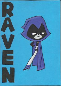 Raven from Teen Titans Go. by EcholynnesEtchings on Etsy