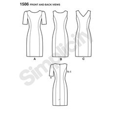 """misses' & plus size dress with sleeve and neckline variations. individual patterns for slim, average & curvy fit & b, c, d cup size for miss & c, d, dd cup sizes for plus. amazing fit collection by simplicity.<p></p><img src=""""skins/skin_1/images/icon-printer.gif"""" alt=""""printable pattern"""" /><a href=""""#"""" onclick=""""toggle_visibility('foo');"""">printa..."""