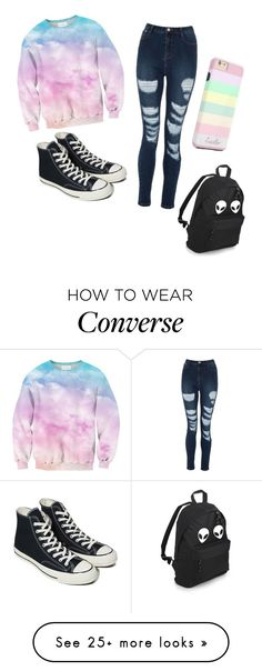 """Untitled #179"" by mini-lucifer on Polyvore featuring Converse"