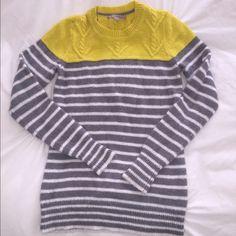 GAP neon striped sweater Neon & gray striped sweater GAP Sweaters Crew & Scoop Necks