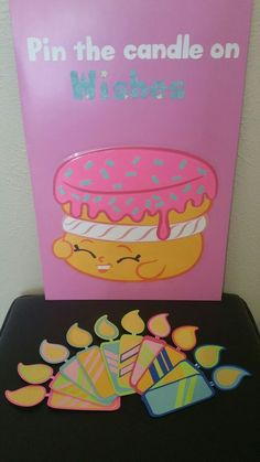Shopkins Pin The Candle On Wishes game Shopkins Pin The Candle On Wi. Shopkins Pin The Candle On Wishes game Shopkins Pin The Candle On Wishes game Fete Shopkins, Shopkins Bday, Shopkins Game, Shopkins Party Ideas, 6th Birthday Parties, Third Birthday, Birthday Fun, Birthday Ideas, Kid Parties