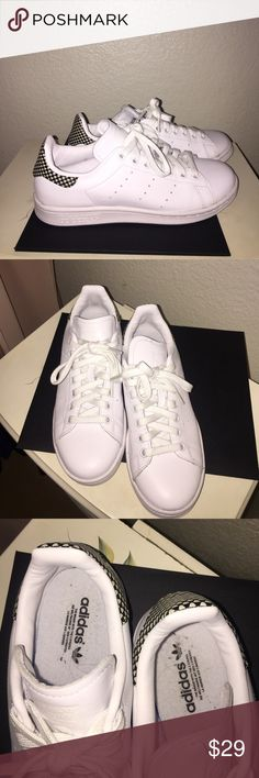 👟 Adidas Stan Smith Sneakers 👟 ⭐️ Adidas Stan Smith Sneakers ⭐️ Runs a size Large⭐️ Worn Once ⭐️ EUC ⭐️ Pet-free & Smoke-free Home ⭐️ Quick Shipping ⭐️        I am a true size 7.5 and these fit me, they are Size 5.5 Mens6.5 Womens adidas Shoes Athletic Shoes