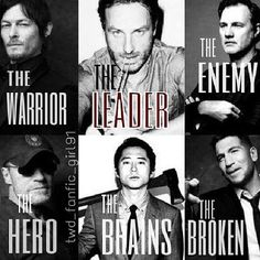 I like this but I think the hero and the broken should be swapped. Merle Dixon has something broken inside and all Shane was trying to do was be the hero for everyone. The Walking Dead 2, Walking Dead Zombies, Walking Dead Season, Real Zombies, Lying Game, Dead Inside, Broken Inside, Dead To Me, Stuff And Thangs