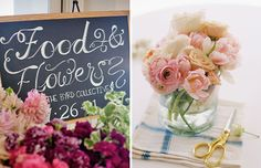 Floral Arranging Party: This was great for my mom's shower, definitely want to replicate!