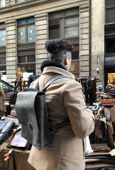 Minimalist backpack Adventure leather rucksack Handmade