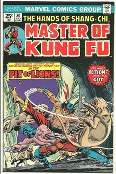 Master of Kung Fu 30 NM 9 6 Paul Gulacy Art Shang Chi   eBay