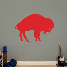 Buffalo Bills Original AFL Logo REAL.BIG. Fathead – Peel & Stick Wall Graphic | Buffalo Bills Wall Decal | Sports Home Décor | Football Bedroom/Man Cave/Nursery
