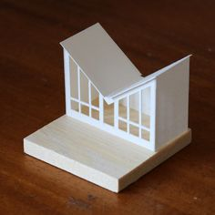 Paperholm : Photo Cardboard Houses, Paper Houses, Water Collection System, Paper Art, Paper Crafts, Architectural Sculpture, Arch Model, Luxury Packaging, Putz Houses