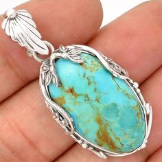 Blue-Turquoise-925-Sterling-Silver-Pendant-Jewelry-SP181926