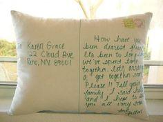 Personalize a Postcard Pillow
