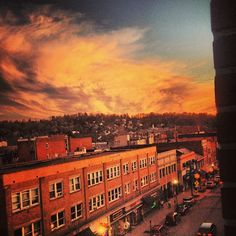 Awesome Morgantown #sunset. #WVU #connectwvu Photo Cred: bubbs502