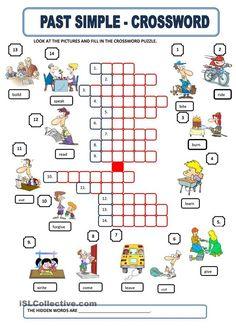 Past simple crossword