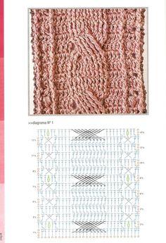 """"""" MOSSITA BELLA PATRONES Y GRÁFICOS CROCHET """": Bufandas y Mitones a crochet en punto relieve, trenzas y torsadas *.*                                                                                                                                                     Más"""