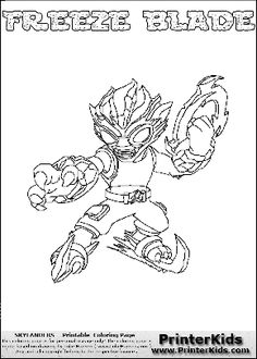 printable coloring page for kids with skylanders swap force blast zone and all the different skylander combinations that can be made with the blast