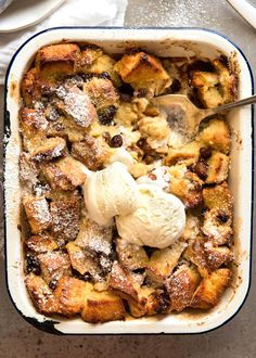 Classic Bread and Butter Pudding, buttery and golden on top and custardy on the inside. Comfort food! www.recipetineats.com