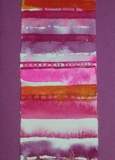 """Strata 1"" Watercolour painted card by Rosie Kerr. SOLD"