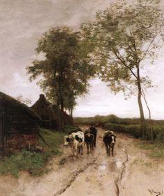 The Athenaeum - Entering the Village Date unknown (Anton Mauve - )