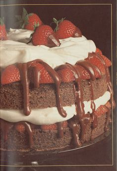 Very Berry Chocolate Cake, Baker's Book of Chocolate Riches #ValentinesDay #Dessert Michigan State University Libraries - Special Collections - Little Cookbooks: The Alan and Shirley Brocker Sliker Culinary Collection
