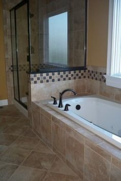 Tile Pattern Around Tub New Construction Fox Creek Traditional Bathroom Other