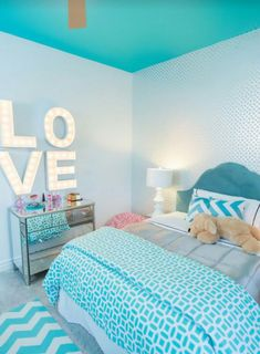 Teen Girl Bedrooms - Simply dreamy teenage girl room ideas and examples. Desperate for other eye popping teen room decor info please check out the pin to wade through the pin tip 3612019498 immediately Bedroom Ideas For Teen Girls, Cool Beds For Teens, Teenage Girl Bedroom Designs, Teenage Girl Bedrooms, Bedroom Girls, Teenage Room, Girl Rooms, Teen Rooms, Teal Teen Bedrooms
