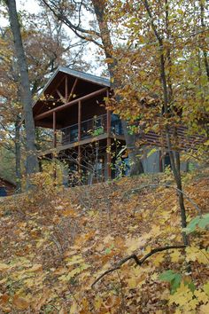 Get ready for fall #camping! It's a perfect time of year to try cabin camping - like at Backbone State Park near Strawberry Point, #Iowa.