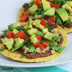 These black bean tostadas from my Reset 28 program are one of my family favorites. Participants rave about them, too. Even my two-year old loves them! This is another recipe that you can either keep plant-based, or add pieces of grilled chicken to appease the more carnivore-oriented of your family. Ingredients: 2 small corn tortillas …