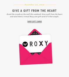 animated GIF - gift card email - leverege this type of creative for voucher or thank you campaigns.
