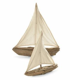 driftwood sailboats...great photography props!