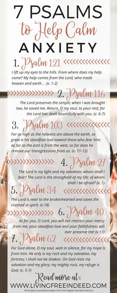 Study and savor seven psalms, which beckon us to God and guard us from the temptation of anxiety. Each one highlights a truth that can calm our hearts.