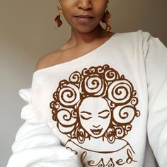 Beautiful Art, T-Shirts, Accessories and Greeting Cards of Black Women with Natural Hair. African Inspired Fashion, African Fashion Dresses, African Dress, Black Girl Shirts, Xhosa, Black Artwork, Black Women Art, Mom Style, Cute Shirts