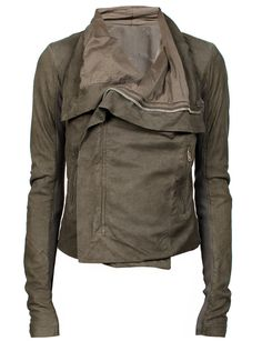 Rick Owens Leather Jacket Dark Dust from MRS H | HANDPICKED DESIGNER FASHION, SKIN CARE & PERFUME