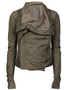 Rick Owens Leather Jacket Dark Dust from MRS H | HANDPICKED DESIGNER FASHION, SKIN CARE & PERFUME