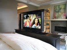 luxury Motorized TV Lift Cabinet bedroom | TV Lift for Bedroom contemporary-bedroom