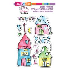 Found it at Blitsy - Stampendous Pink Your Life Perfectly Clear Stamps - Whisper Houses