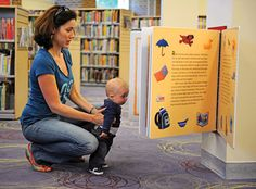 Giant books support early literacy print awareness