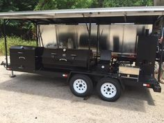 GrillBillies Barbecue can design a custom BBQ trailer with just about any component. With our large selection of Meadow Creek barbecue equipment we can design t Barbecue, Bbq Grill, Grilling, Custom Trailers, Camp Trailers, Custom Smokers, Bbq Smoker Trailer, Custom Bbq Pits, Bar Catering