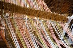18th century loom warp and shed