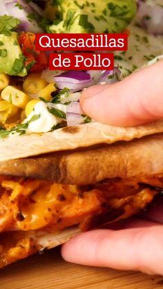 Easy Healthy Recipes, Easy Meals, Amazing Food Videos, Deli Food, Good Food, Yummy Food, Quesadillas, Mexican Food Recipes, Food Inspiration