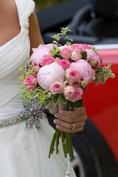 The Workshop Flores, estaba compuesto por peonías y rosas de pitiminí.