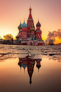 Golden hour at St. Basil's Cathedral Moscow, Russia. Photos by – All Pictures Best Vacations, Vacation Trips, Wonderful Places, Beautiful Places, Tao, St Basils Cathedral, St Basil's, Photos Voyages, Disney Trips