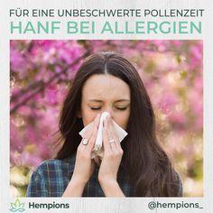 Mit steigenden Temperaturen erwacht die Natur aus dem Winterschlaf. Damit beginnt auch die neue Pollensaison und eine unangenehme Zeit für viele Pollenallergiker. Hanfsamen und CBD können dir die Pollenzeit erleichtern und bieten eine leckere & natürliche Alternative. Mehr dazu in unserem verlinkten Blogbeitrag. Blog, Wound Healing, Allergies, Immune System, Hemp Seeds, Blogging