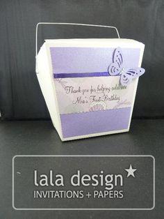 Purple butterfly lolly box