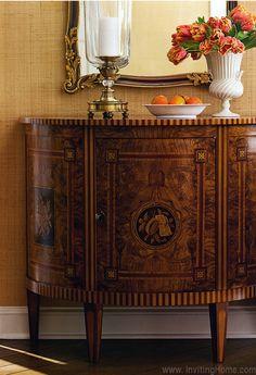 luxury inlaid Italian cabinets