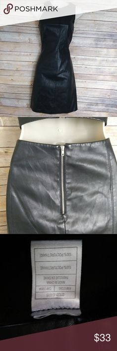 """BB Dakota black faux leather sleeveless dress 8 BB Dakota black faux leather sleeveless dress size 8 cut out back. Great for that night out on the town. Great condition. No holes rips or tears. Measurements lying flat. Arm pit to arm pit- 17"""" Length- 36"""" BB Dakota Dresses"""