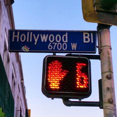 A Hollywood Boulevard sign..