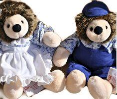 "HECTOR & HEIDI Hedgehogs Adorable Duo 9"" Stuffed Animals RUSS Plush Toys MINT #Russ"