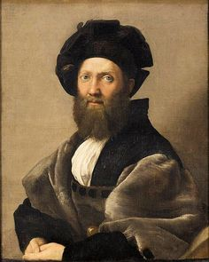 """This is Castiglione and i chose this picture because it shows what he looks like and he was a soldier.""""Retrato de Baltasar Castiglione"""""""