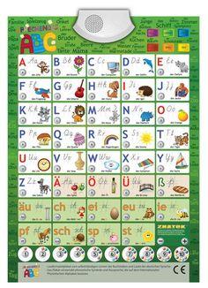 Audio-Plakat Sprechendes ABC Deutsch / Lernspielplakat / Lernposter (interaktiv): Amazon.de: Spielzeug