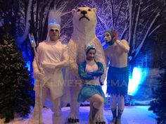 Winter Wonderland themed entertainment -  Winter Wonderland acrobatic elfs and Ice King MC to introduce speeches, greet guests and announce performing staged acts  to hire  http://www.calmerkarma.org.uk/winter-wonderland.htm    Perfect for corporate Christmas parties.   Hire across the UK inc MANCHESTER, LONDON, Cheshire, BIRMINGHAM, CARDIFF, Bristol