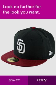 2249bb08437 New Era 59Fifty San Diego Padres Fitted Hat (BlackWhite-Cardinal) Mens MLB  Cap